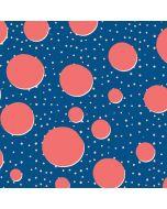 Coral Polka Dots iPhone X Skin