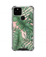 Spring Palm Leaves Google Pixel 5 Clear Case