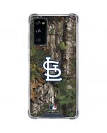 St. Louis Cardinals Realtree Xtra Green Camo Galaxy S20 FE Clear Case