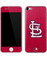 St. Louis Cardinals - Solid Distressed Apple iPod Skin