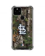 St. Louis Cardinals Realtree Xtra Green Camo Google Pixel 5 Clear Case
