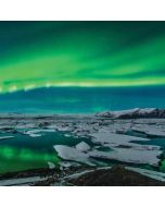 Aurora Borealis Over The Glacial Lagoon Jokulsarlon in Iceland iPhone X Waterproof Case