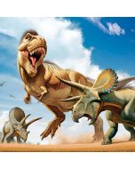 Tyrannosaurus Rex Fighting with Two Triceratops HP Envy Skin
