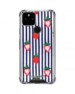 Strawberries and Stripes Google Pixel 5 Clear Case