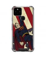 Superman American Flag Google Pixel 5 Clear Case