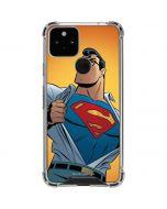 Superman Cartoon Google Pixel 5 Clear Case