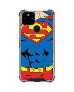 Superman Chest Google Pixel 5 Clear Case