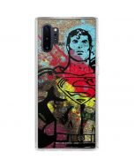 Superman Color Splatter Galaxy Note 10 Plus Clear Case