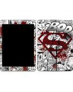 Superman Comic Logo in Red Apple iPad Skin