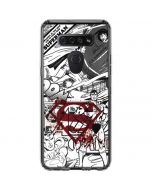 Superman Comic Logo in Red LG K51/Q51 Clear Case