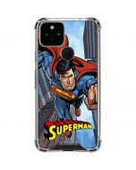 Superman Flying Google Pixel 5 Clear Case