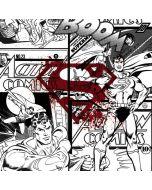 Superman Comic Logo in Red Apple AirPods Skin