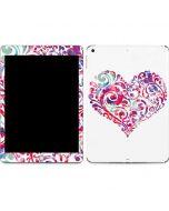 Swirly Heart Apple iPad Skin