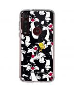 Sylvester and Tweety Super Sized Moto G8 Plus Clear Case