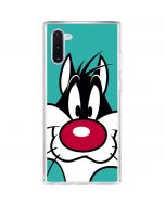 Sylvester Zoomed In Galaxy Note 10 Clear Case