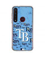 Tampa Bay Rays - Cap Logo Blast Moto G8 Plus Clear Case