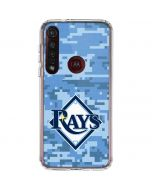 Tampa Bay Rays Digi Camo Moto G8 Plus Clear Case