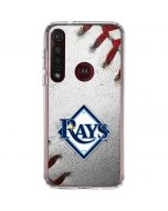 Tampa Bay Rays Game Ball Moto G8 Plus Clear Case