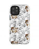 Tasmanian Devil Super Sized Pattern iPhone 11 Pro Impact Case
