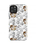 Tasmanian Devil Super Sized Pattern iPhone 11 Pro Max Impact Case