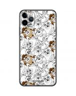Tasmanian Devil Super Sized Pattern iPhone 11 Pro Max Skin