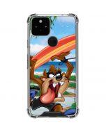 Tasmanian Devil Surfboard Google Pixel 5 Clear Case