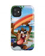 Tasmanian Devil Surfboard iPhone 11 Impact Case