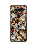 Taz Super Sized Pattern LG K51/Q51 Clear Case