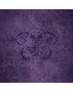 Purple Damask Butterfly Apple iPod Skin