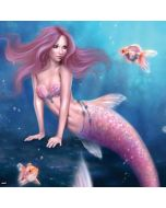 Aurelia Mermaid with Fish Generic Laptop Skin