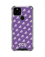 TCU Horned Frogs Logo Print Google Pixel 5 Clear Case