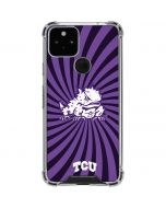 TCU Horned Frogs Mascot Swirl Google Pixel 5 Clear Case