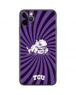 TCU Horned Frogs Mascot Swirl iPhone 11 Pro Max Skin