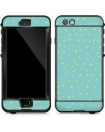 Teal and Yellow Polka Dots LifeProof Nuud iPhone Skin