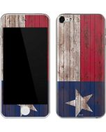 Texas Flag Dark Wood Apple iPod Skin