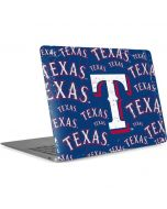 Texas Rangers - Cap Logo Blast Apple MacBook Air Skin