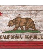 California Flag Dark Wood Apple iPad Skin