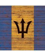 Barbados Flag Dark Wood Apple iPad Skin