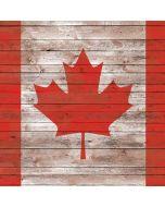 Canadian Flag Dark Wood Apple iPad Skin