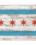 Chicago Flag Dark Wood Generic Laptop Skin