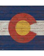 Colorado Flag Dark Wood Apple iPad Skin