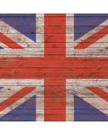 United Kingdom Flag Dark Wood Apple iPad Skin
