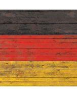 German Flag Dark Wood Apple iPad Skin