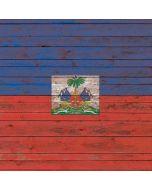 Haiti Flag Dark Wood iPhone X Skin