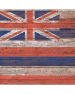 Hawaiian Flag Dark Wood Generic Laptop Skin