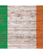 Ireland Flag Dark Wood Apple iPad Skin