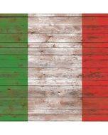 Italian Flag Dark Wood Apple iPad Skin