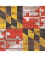 Maryland Flag Dark Wood Generic Laptop Skin