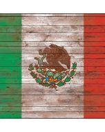 Mexican Flag Dark Wood Xbox One X Console Skin