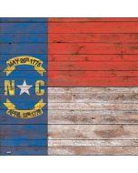 North Carolina Flag Dark Wood Xbox One X Console Skin